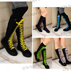 On Sale! Punk Canvas Sneakers Flat Platform Shoes Knee High Boots YSH-0119