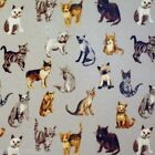 COOL CATS SILVER PVC WIPE CLEAN OILCLOTH WIPEABLE TABLECLOTH CO click for sizes