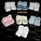 BABY GIRL/BOY UNISEX KNITTED BOOTIES-BEAUTIFUL EMBROIDERY DETAIL-8 DESIGNS-NEW