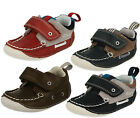 Clarks 'Cruiser Deck' Boys Nvy Combi Leather Cruiser Shoes G & H Width Fitting