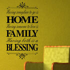 LARGE WALL QUOTE STICKER HOME FAMILY BLESSING TRANSFER STENCIL DECAL
