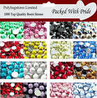 1000  QUALITY FLAT BACK *RESIN* RHINESTONES  NAIL ART / CARDS / ARTS & CRAFTS