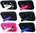For Nokia Lumia 822 Rugged Heavy Duty Stand Cover Case Black Pink Blue Purple