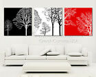 Tree Branches Art In Diff Colors Canvas Print Set High Quality Can Add Clock