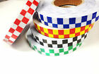 High Intensity Reflective Chequer Checkered Tape Vinyl Roll 25MM 50MM 1M 2M 5M