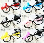 Geek Nerd Bow Style Frame Glasses Decor Gift No lens accessories Fancy Dress
