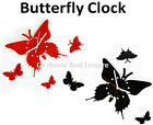 Stylish Butterfly Wall Clock - Black or Red