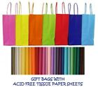 PARTY GIFT BAGS x 20 - WITH TISSUE PAPER - BIRTHDAY BAG - WEDDINGS CHRISTENINGS