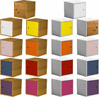 Stackable Storage Cube With Lid In Solid Pine Wood Ideal For Childrens Bedroom