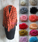 Women Infinity Circle Round Loop Tube Scarf Wrap Tassel Fringed