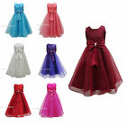 Girls Bridesmaid Dress Baby Flower Kids Party Rose Bow Wedding Dresses Princess.
