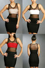 Gift Sexy Club Party Show Off Lady Jealousy Focus Mesh Black Mini Dress S/M/L