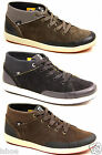 CATERPILLAR CAT FLYNN SUEDE MID TOP SKATE URBAN TRAINERS SHOES BOOTS SIZE 6-11