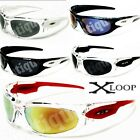 (90)New XLoop Mens Sunglasses-Sports Wrap-Cycling*NWT'S*Clear/Color Choices-NICE