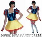 Fun Shack Snow White Short Dress Blue Yellow Polyester w/ Net Underskirt New