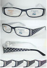 (R319H) Reading Glasses with H1 Hard Case/Laser-cut Snake Skin Pattern Arms