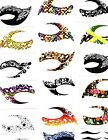 EYE TATTOOS STICKERS * TEMPORARY MAKEUP * EYE LINER * US SELLER * 15 STYLES