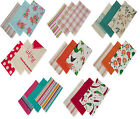 NEW PACK OF 3 COTTON KITCHEN TEA TOWELS  - ASSORTED COLOURS & DESIGNS AVAILABLE