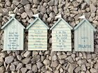 East of India Seaside Beach Hut Hanging Sign / Plaque - Multi Wording Options
