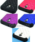 For Samsung Galaxy S4 Diamond Double Layer Hard Cover Case