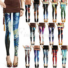 NEW Colorful Women's Fashion Galaxy Leggings Sexy Space Pants Stretchy Wholesale