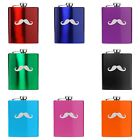 7oz Stainless Steel Hip Flask Mustache