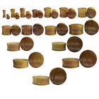 1 x Jackfruit Wood Ear Plug Tunnel Organic Body Jewellery Stretched Gauge Saddle