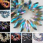 10 Charms Dagger Teardrop Faceted Glass Crystal Finding Pendant Spacer Beads20mm