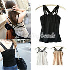 Women's Sexy Lace Bodycon Tank Top Cami Casual Vest Dress Sleeveless T-Shirt