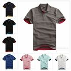 Clastic Causual Fashion Men's Male Summer turn down Short sleeve POLO T shirts