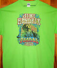 JIMI HENDRIX T Shirt Lime Green Sz SM - 5XL  VOODOO CHILD Vintage Look Design