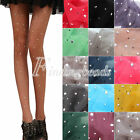 Woman Sexy Thin Bling Crystal Rhinestone Pantyhose Tights Stockings Candy Color