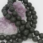 12mm Matte Black Onyx Round Loose Beads Wholesale Lots of 5 10 20 50 100 Str