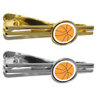 Basketball Round Tie Bar Clip Clasp Tack
