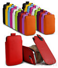 Nokia Pull Tab PU Leather Skin Case Cover Pouch Design For Various Nokia Mobiles