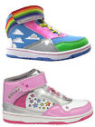 Girls SIZE 8 - 13 GOLA Hi Top Trainers Boots Pink Blue Cloud Rainbow Star HIGH