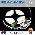 Waterproof 5M 3528LED Cool White DC 12V SMD Strips LED Strip Light+REMOTE DIMMER