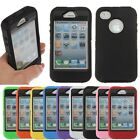 1x Heavy Duty Shock Proof Builders Workman Silicone Case Cover For iPhone 4 4S