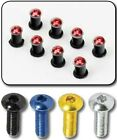 Motorbike FAIRING BOLTS BLACK/BLUE/SILVER/GOLD/RED SCREWS, NUTS AND RUBBERS