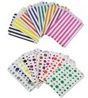 40 x CANDY STRIPE POLKA DOT PAPER SWEET FAVOUR BUFFET CAKE BAGS -7x9 INCHES