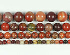 "Natural Rainbow Jasper Stone Gemstone Round Loose Beads 15.5"" 4mm,6mm,8mm,10mm"