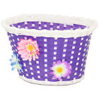 PEDALPRO GIRLS BICYCLE BASKET FLOWER/SHOPPING CHILDS/CHILDRENS/KIDS BIKE/CYCLE
