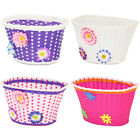 GIRLS BICYCLE BASKET FLOWERY/FLOWER/SHOPPING CHILDS/CHILDRENS/KIDS BIKE/CYCLE