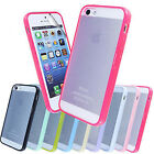 SILICONE BUMPER GLOSSY PHONE CASE COVER FOR APPLE IPHONE 5 5G + SCREEN PROTECTOR