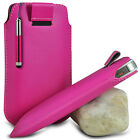 HOT PINK PULL TAB POUCH CASE W/ RETRACTABLE MINI STYLUS PEN FOR MOST PHONES