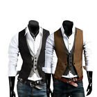 New Men's Clothing Top Designed Casual Slim Fit Skinny dress vest Waistcoat M-XL