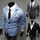 Mens Casual Dress Slim Fit Stylish two button Suit Blazer Jackets Coats