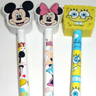 1 x Cartoon Character School Pencil and Rubber Stationery Gift Party Bag Toy