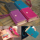 Envelope Leather Card Wallet Purse Case Cover For Samsung Galaxy Iphone 4S dj962