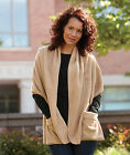Women's Shawl Wraps with Pockets Camel or Navy Scarf Shawl Sweater